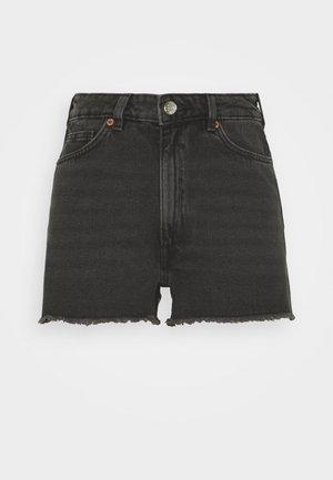 KELLY - Denim shorts - black