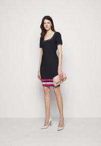 Milly - GEO CUT OUT DRESS - Jumper dress - navy/multi - 1
