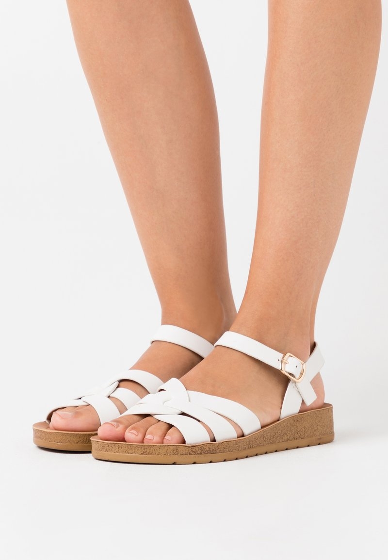 New Look Wide Fit - WIDE FIT HELGA - Sandalias - white