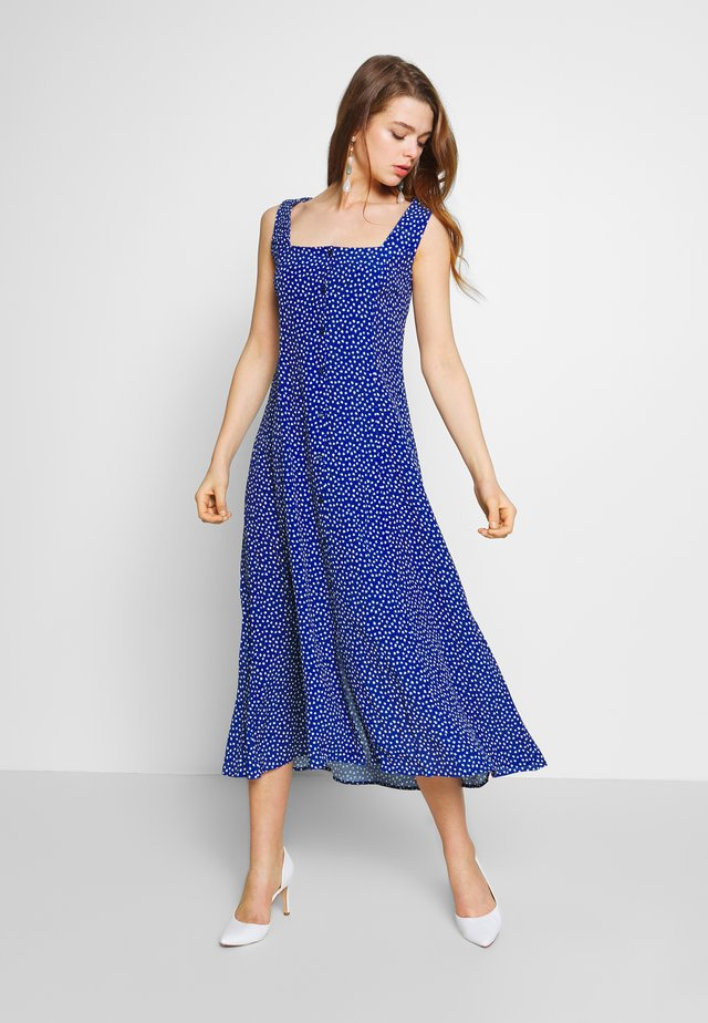 CLAIRE MINI TULIPS DRESS - Day dress - marine blue