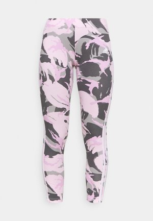 CAMO LEG - Tights - solid grey/white