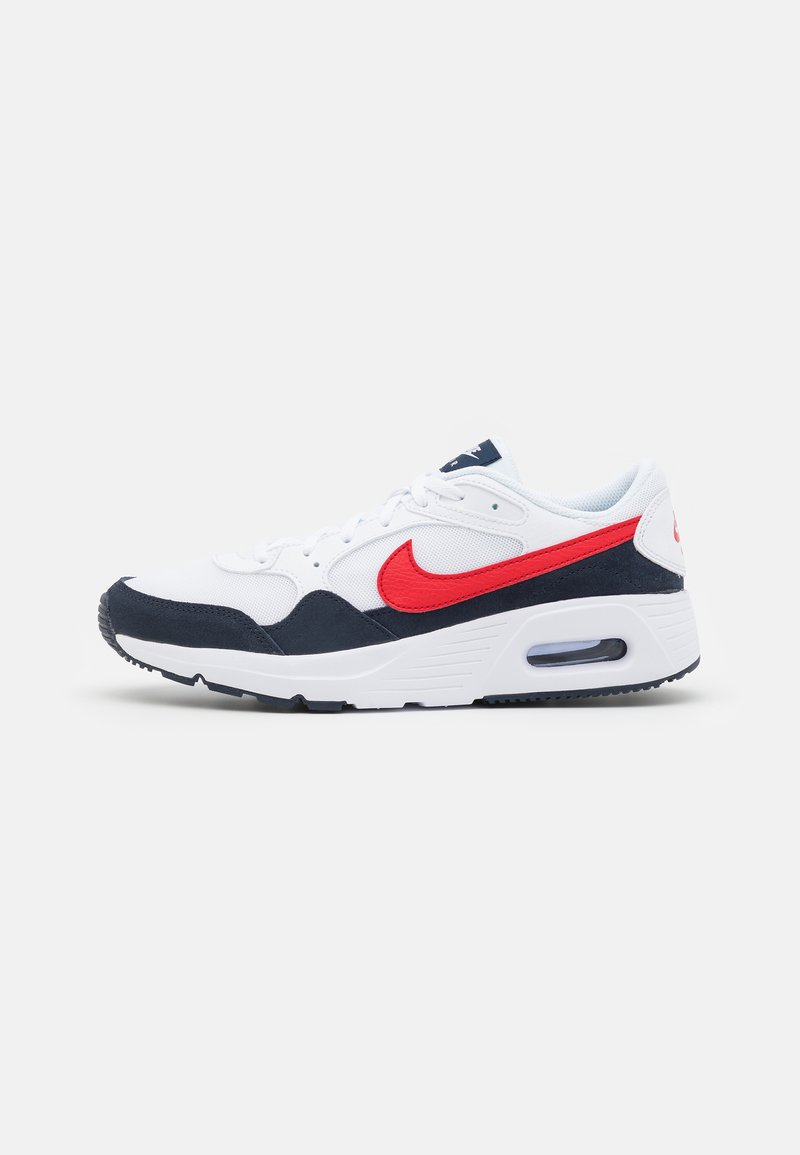 Nike Sportswear - AIR MAX SC UNISEX - Trainers - white/university red/obsidian