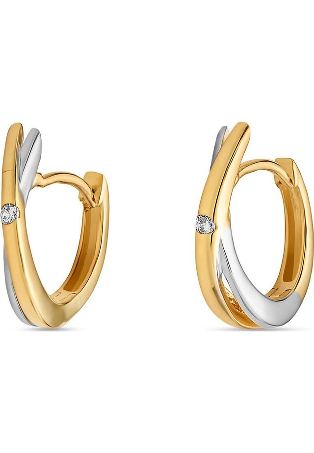 FAVS. DAMEN-CREOLE 585ER GELBGOLD ZIRKON - Earrings - gelbgold
