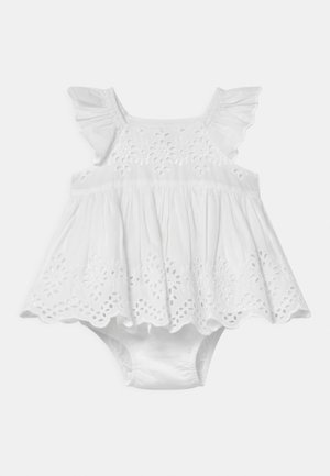 EYELET SET - Cocktailjurk - optic white