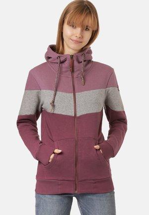 Zip-up hoodie - mauve/mid grey heather/dark mauve