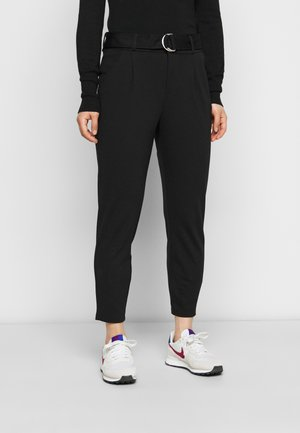 VMEVA LOOSE BELT PANT - Trousers - black