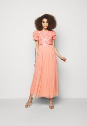 SHIRLEY RIBBON BODICE ANKLE MAXI DRESS - Occasion wear - coral