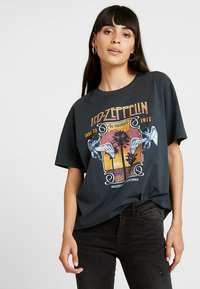 Revival Tee - T-shirt z nadrukiem - mottled dark grey - 0