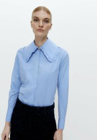 Uterqüe - Button-down blouse - blue - 0