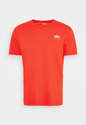 BASIC SMALL LOGO - T-shirt - bas - atomic red