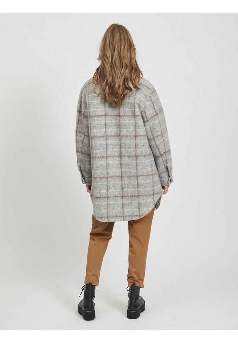 Object - OBJSOLA LONG - Short coat - light grey melange