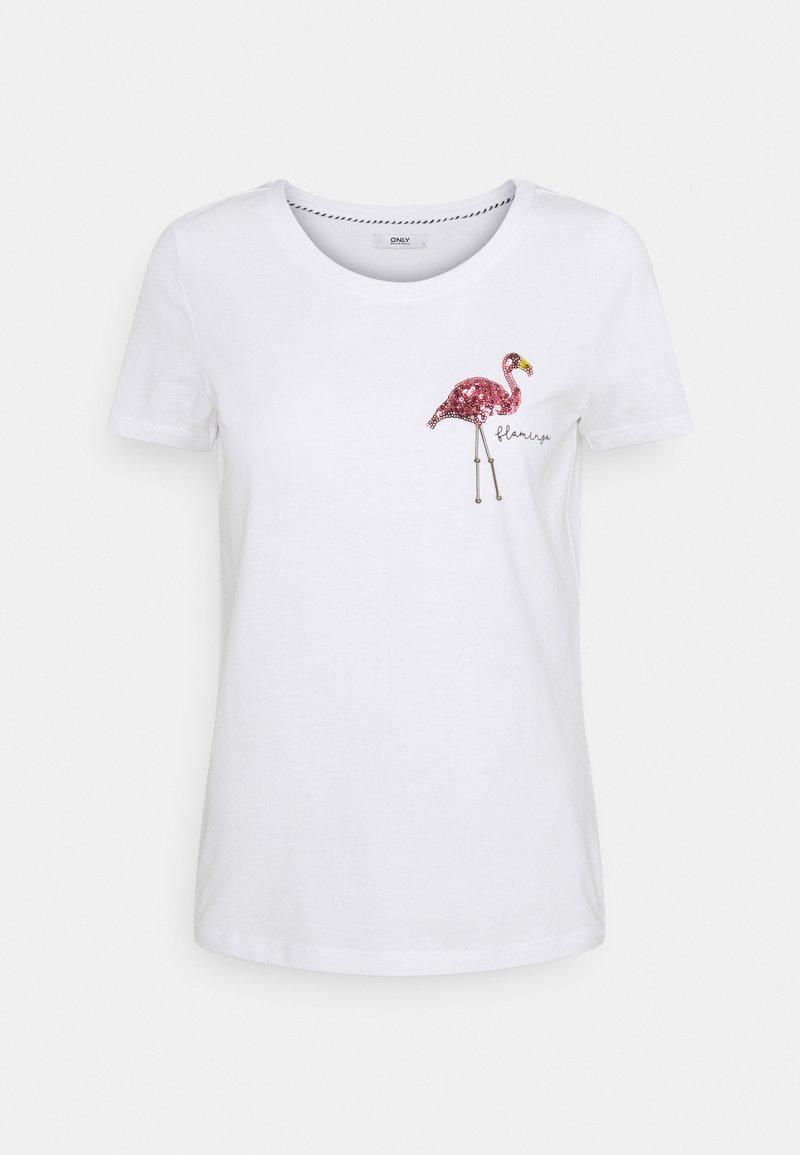 ONLY Petite - ONLKITA SUMMER - Print T-shirt - white