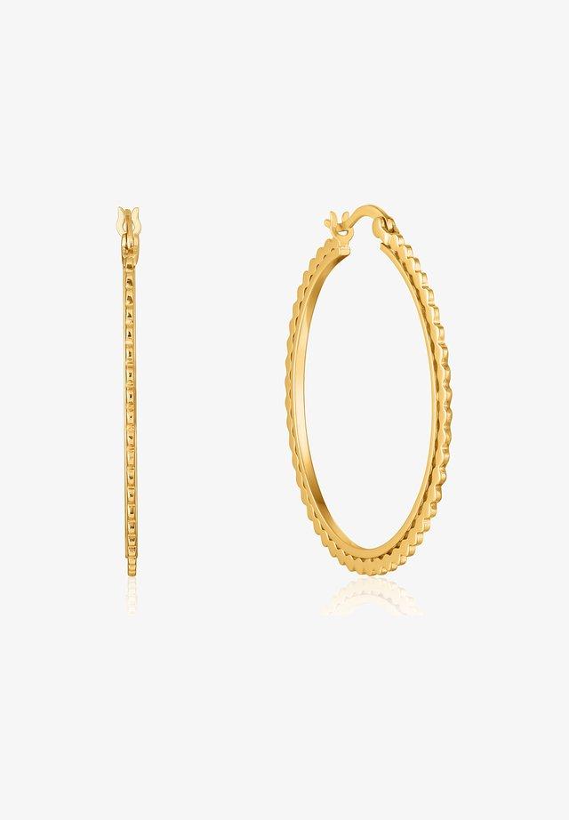 CREOLE FLAT BEADED  - Earrings - gold