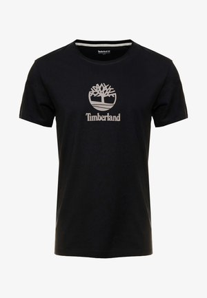 STACK LOGO TEE - T-shirt med print - black
