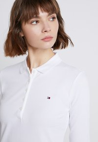 Tommy Hilfiger - HERITAGE LONG SLEEVE SLIM  - Polo shirt - classic white - 3