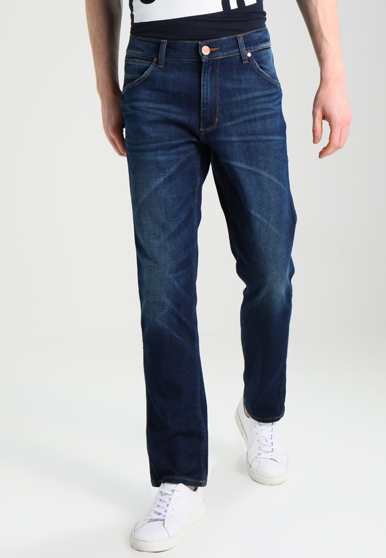 Wrangler - GREENSBORO - Straight leg jeans - dark-blue denim, light-blue denim