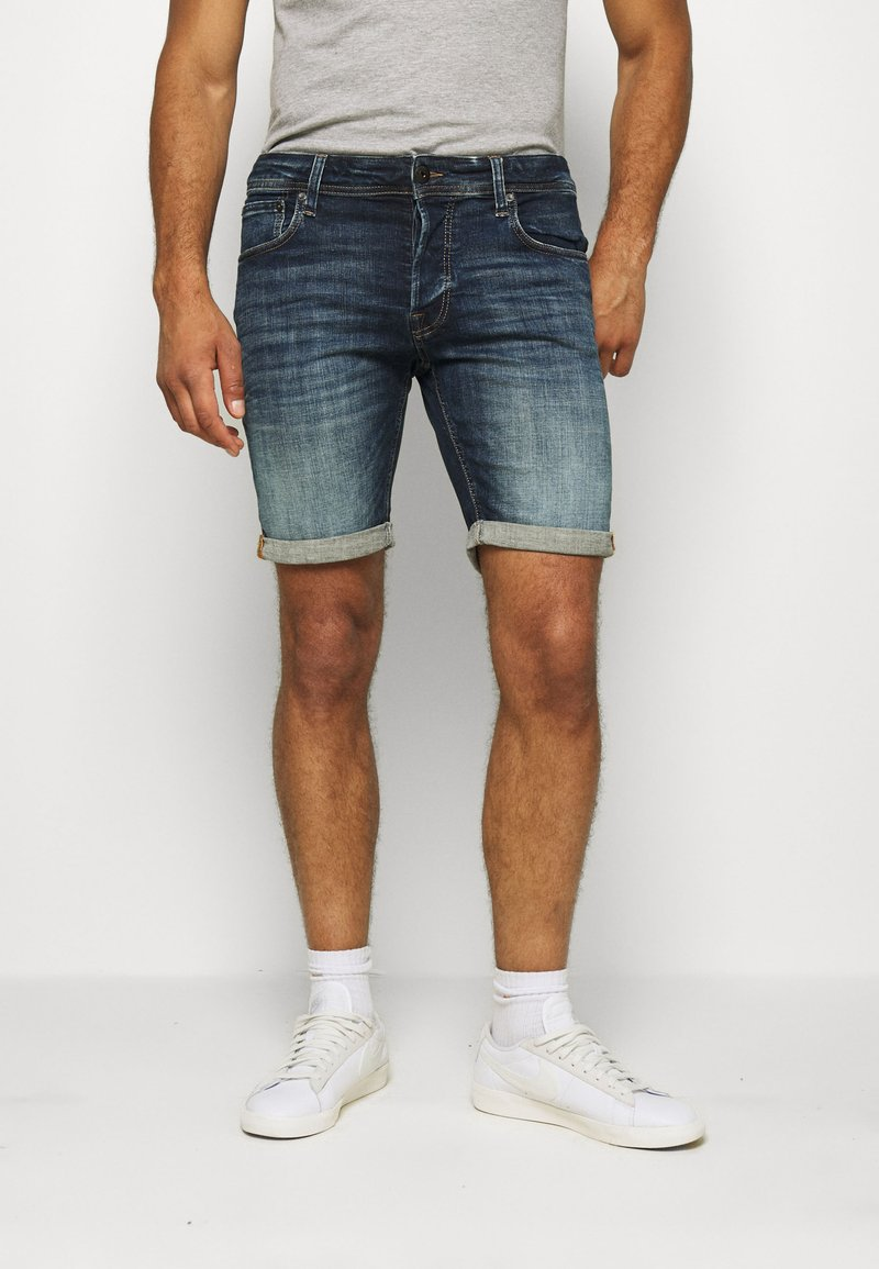 Jack & Jones - JJIRICK JJORG - Denim shorts - blue denim