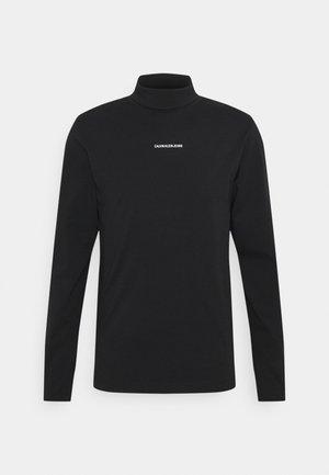 MICRO BRANDING ROLL NECK UNISEX - Pitkähihainen paita - black