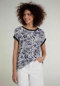 Oui - Print T-shirt -  blue - 0