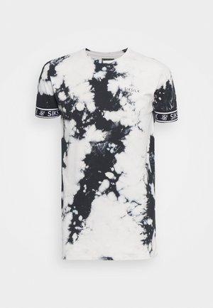 TIE DYE CUFF TEE - Camiseta estampada - black/grey