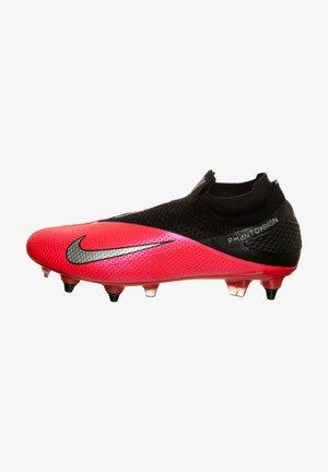 Moulded stud football boots - laser crimson / metallic silver / black