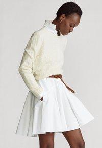 Polo Ralph Lauren - LONG SLEEVE CASUAL DRESS - Vestido camisero - white - 2