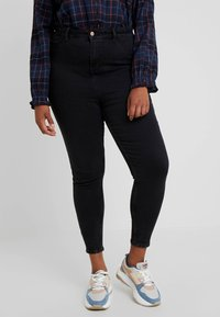 New Look Curves - HALLIE DISCO - Jeans Skinny Fit - washed black - 0