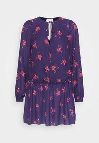 True Violet Petite - LONG SLEEVE SWING DRESS WITH KEYHOLE - Denní šaty - blue/red - 4