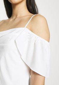 NA-KD - COWL NECK MINI DRESS - Day dress - white - 4