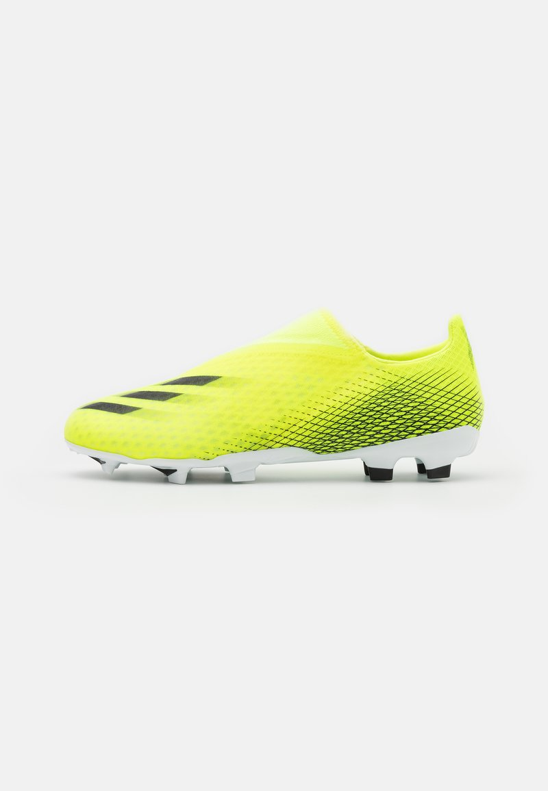 adidas Performance - X GHOSTED.3 LL FG - Moulded stud football boots - solar yellow/core black/royal blue