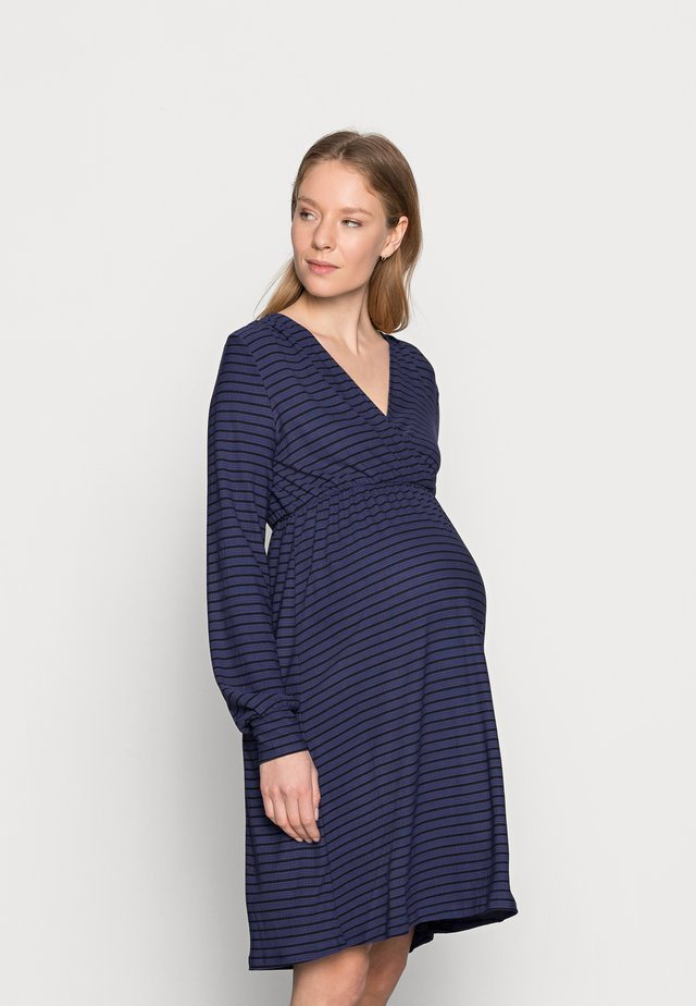 NURSING DRESS - Žerzejové šaty - blue ribbon/black