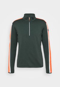 CMP - MAN - Sweatshirt - nero melange/orange fluo - 4