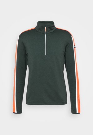 MAN - Sweatshirt - nero melange/orange fluo
