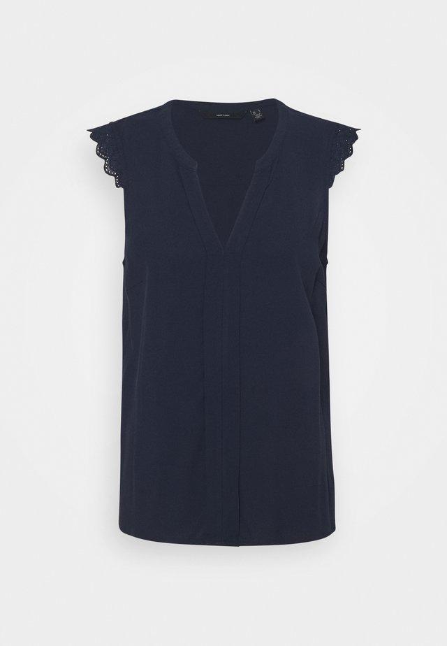 VMNADS LACE TOP COLOR - Blouse - navy blazer