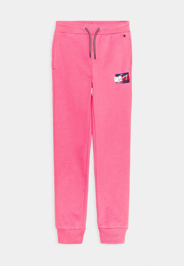 FLAG PRINT  - Tracksuit bottoms - exotic pink
