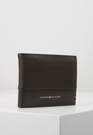 TEXTURED FLAP AND COIN - Wallet - brown