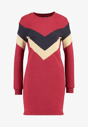 ONLDAKOTA O NECK DRESS - Korte jurk - merlot/night sky