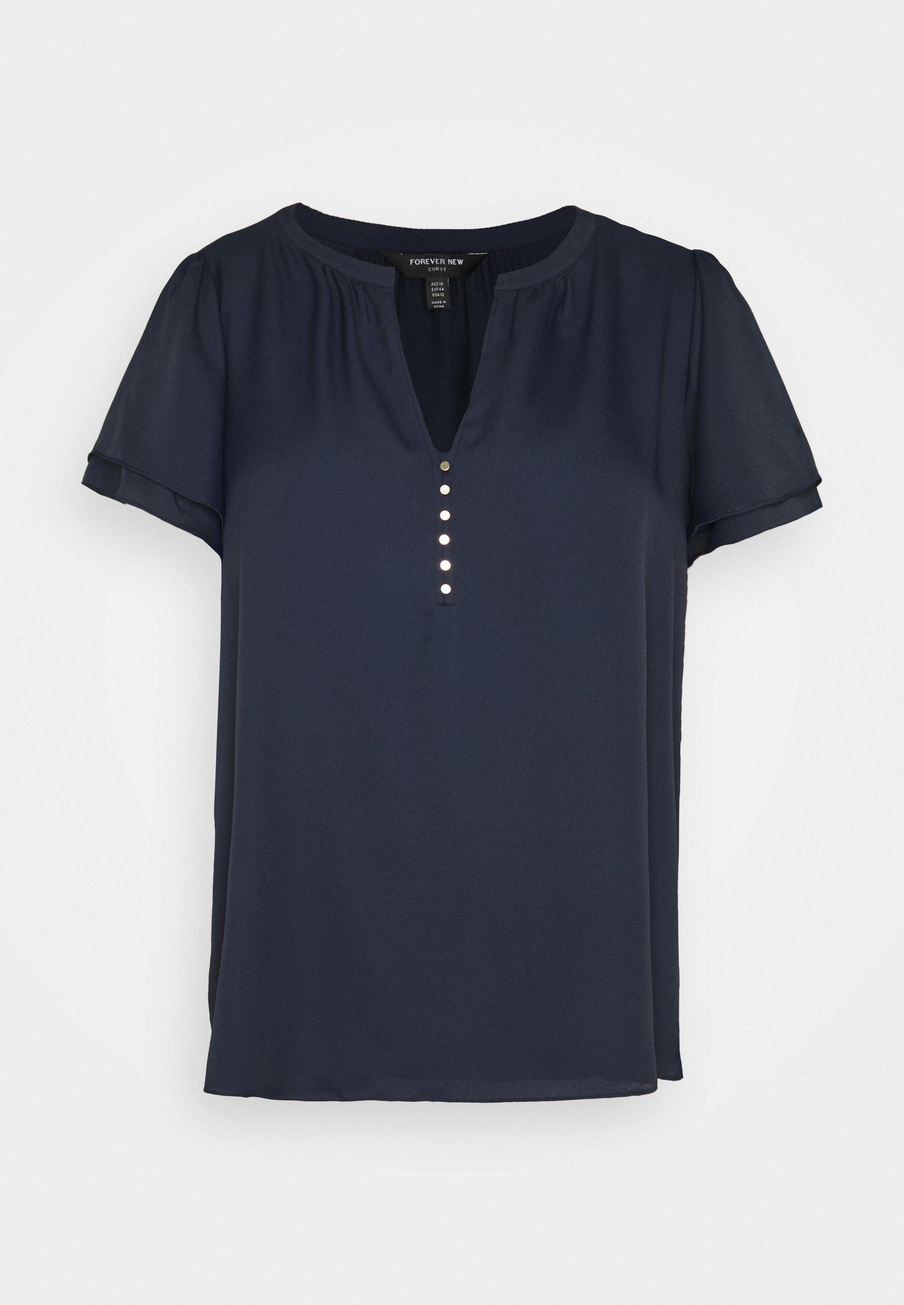 Women WOVEN FRONT - Basic T-shirt