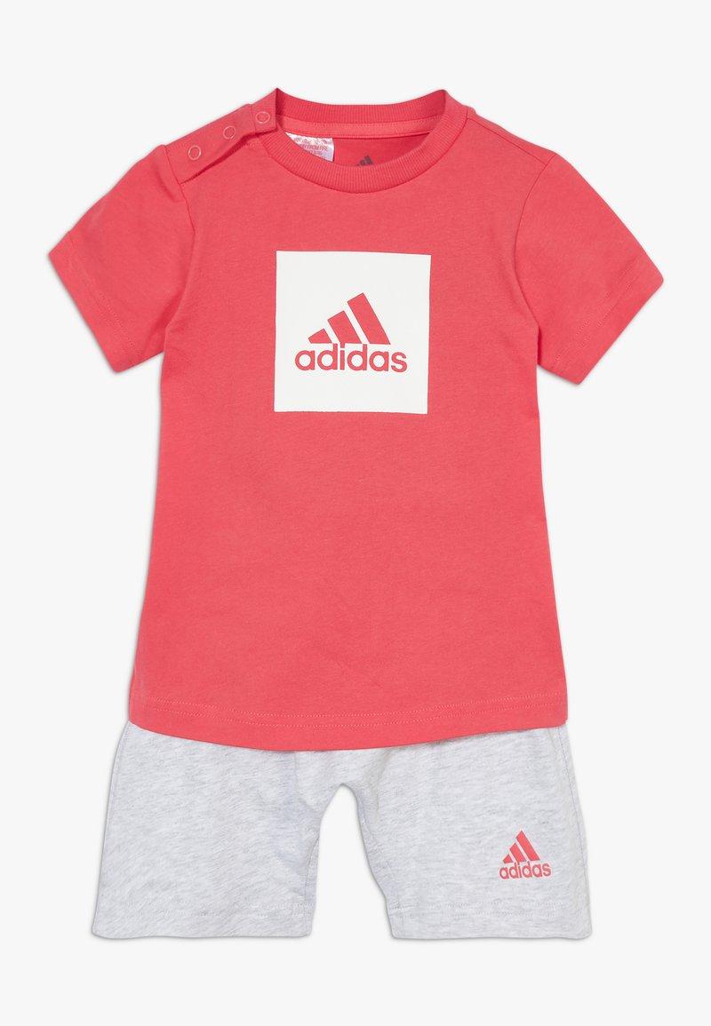 adidas Performance - LOGO SUMMER TRACKSUIT BABY SET - Tracksuit - core pink/white