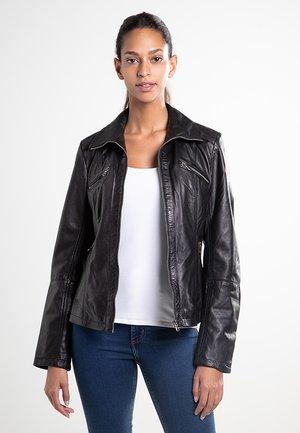 LAMMLEDER - Leather jacket - black