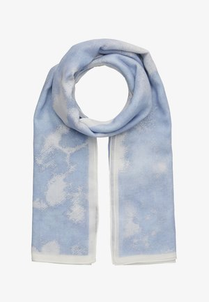 TIE DYE SQUARE SCARF - Foulard - blue