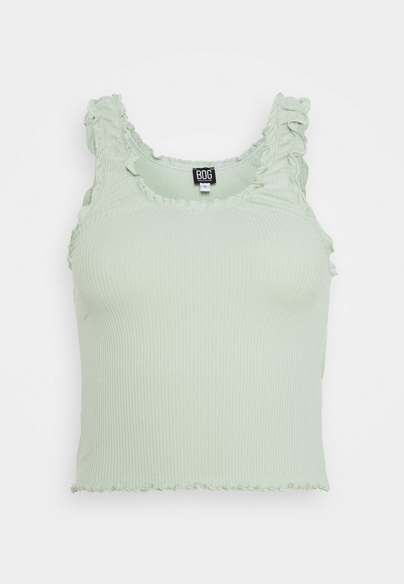 BDG Urban Outfitters - LETTUCE EDGE TANK - Topper - sage