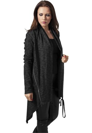 LADIES TERRY ZIP-UP CARDIGAN - veste en sweat zippée - darkgrey
