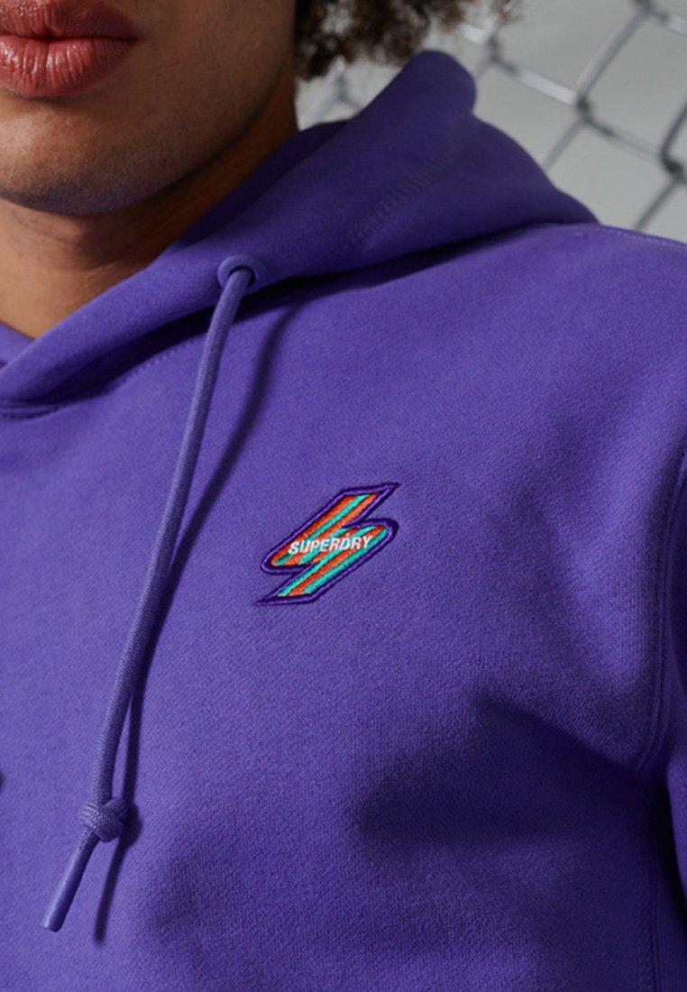 Superdry BRUSHED - Kapuzenpullover - purple opulence/lila AtKuk9