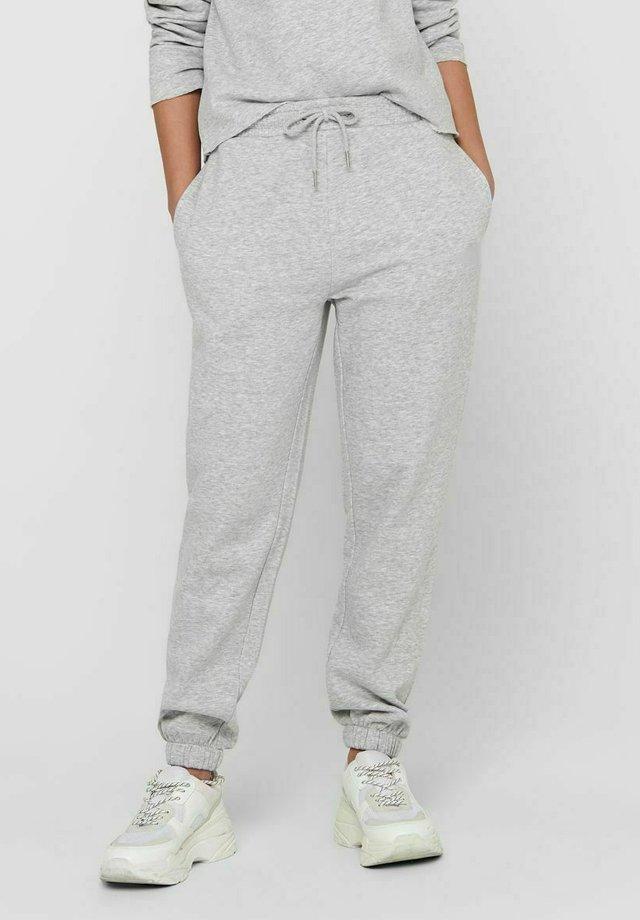 JDYCATHRIN LIFE - Spodnie treningowe - light grey melange