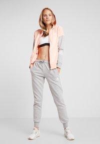 adidas Performance - ENERGIZE SPORTS SLIM TRACKSUIT - Tracksuit - glow pink/medium grey heather/white - 1