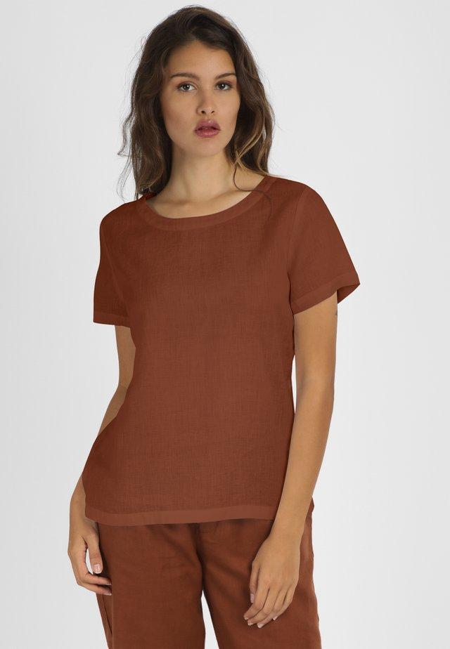 T-shirt basic - braun