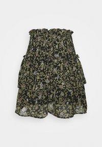 ONLMELINA LIFE SMOCK LAYERED SKIRT - Mini skirt - dusky green/punk flower