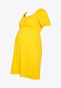 MAMALICIOUS - SHORT DRESS - Sukienka z dżerseju - primrose yellow - 4