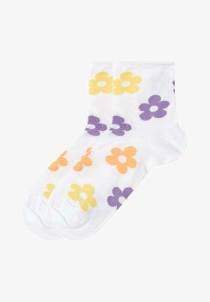 Socks - allover fiori bianco
